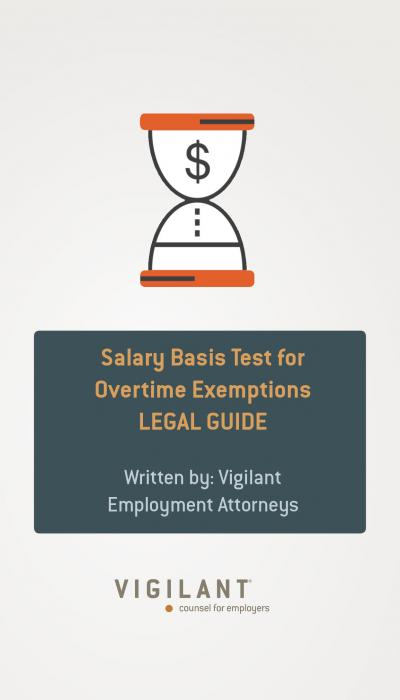 Salary Basis Test for Overtime Exemptions