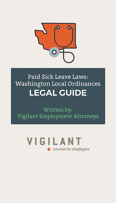 Paid Sick Leave Laws: Washington Local Ordinances Legal Guide logo