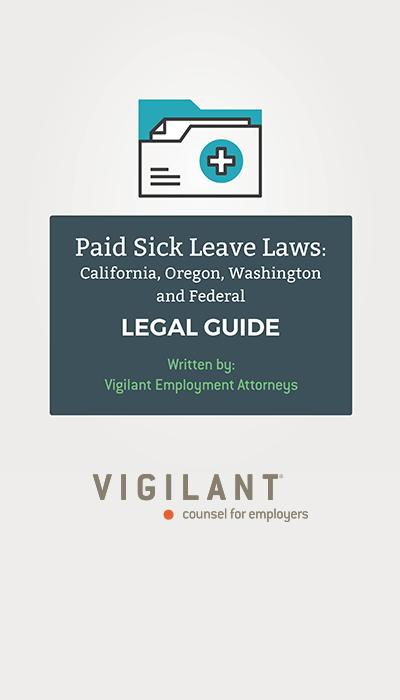 Paid Sick Leave Laws: California, Oregon, Washington & Federal logo