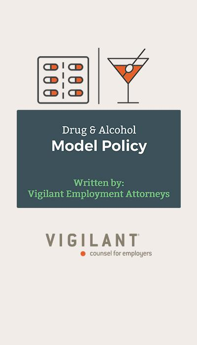 Drug and Alcohol Model Policy